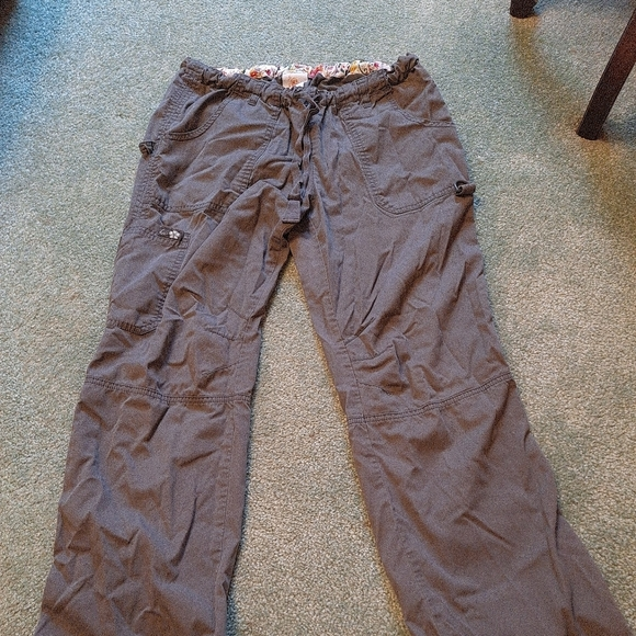 Womens Koi dark Grey scrub pants